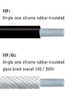 Single Core Silicone Rubber Flexibles (SIAF- SIF/GL)
